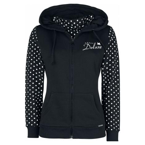 Pussy Deluxe Bunda s kapucí na zip a s rouškou Stay Safe Dotties dívcí mikina s kapucí a zipem c