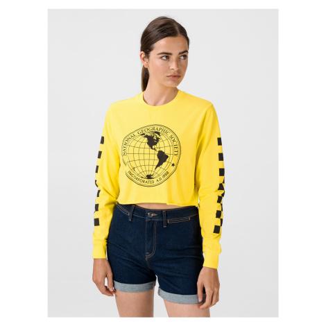 Tričko Vans Wm Nat Geo Ls Crop Cyber Yellow Žlutá