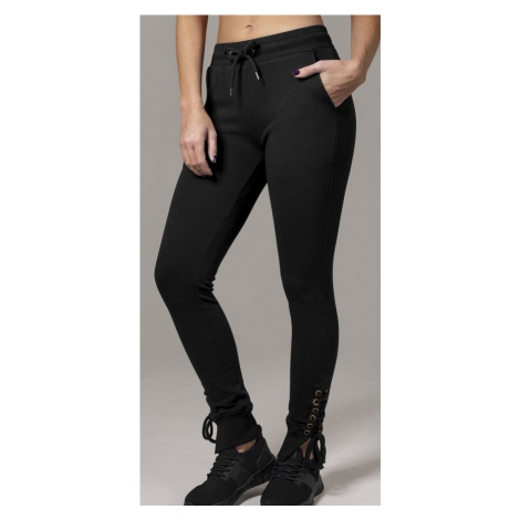 Tepláky Urban Classics Ladies Fitted Lace Up Pants