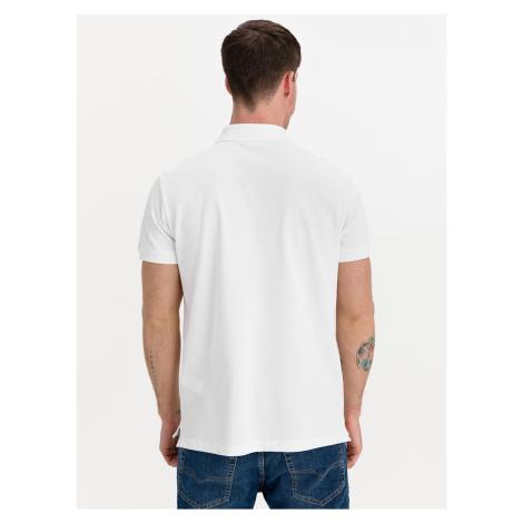 Badge Polo triko Tommy Jeans Bílá Tommy Hilfiger