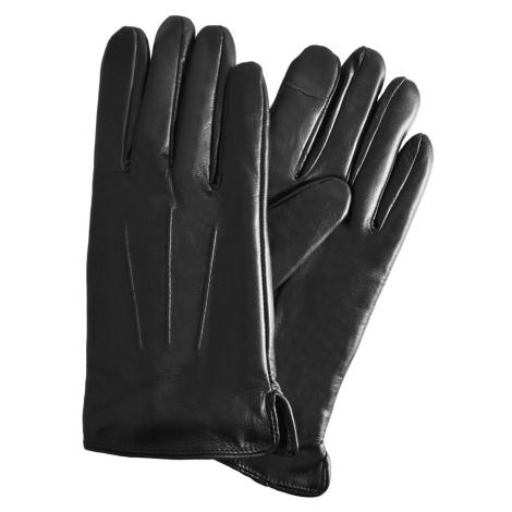 Semiline Man's Men Leather Antibacterial Gloves P8216-0