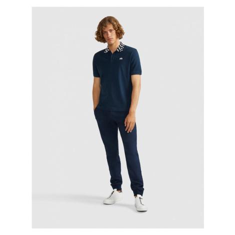 Tepláky La Martina Man Pant Cotton Fleece - Modrá