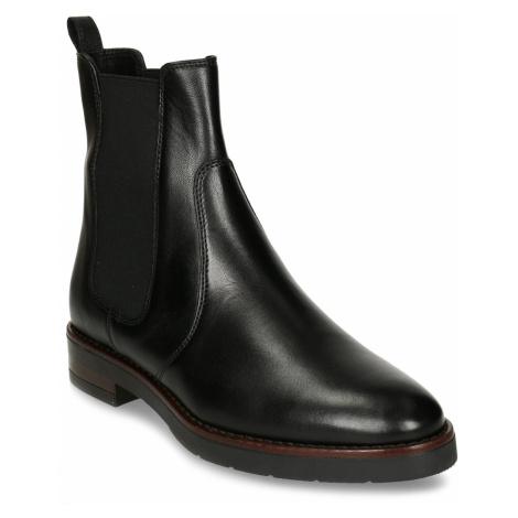 Černá dámská kožená kotníková obuv v Chelsea stylu Baťa