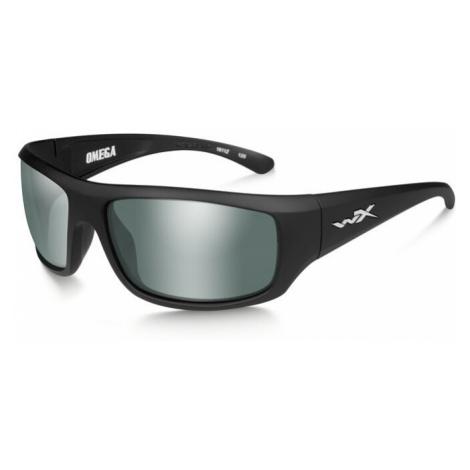 Sluneční brýle Wiley X® Omega - rámeček černý, platinově zelené zrcadlové čočky polarizované (Ba