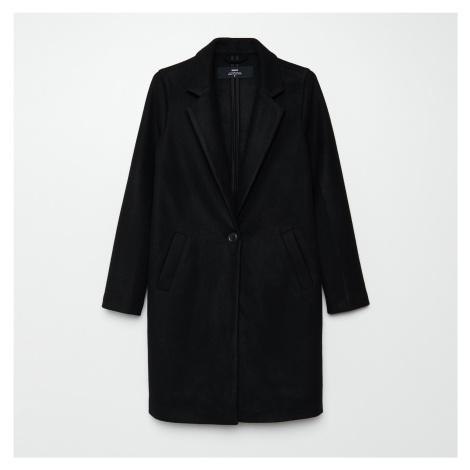 Cropp - Hladký kabát - Černý