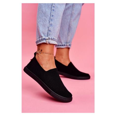 Women's Slip-on Sneakers Big Star Black FF274A609 Kesi