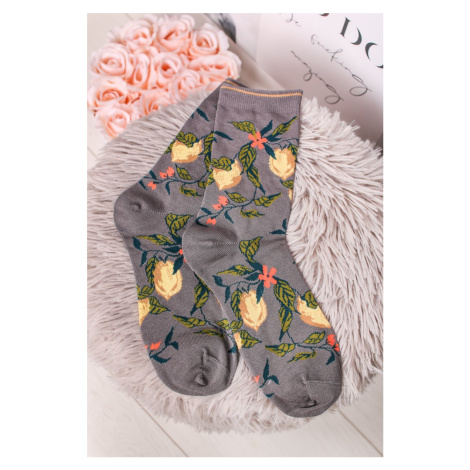 Žluto-šedé ponožky Frutta Socks Thought