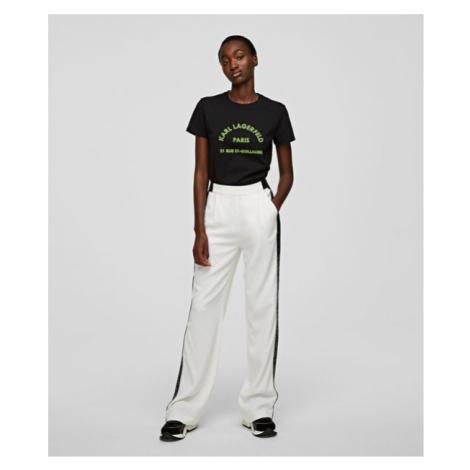 Kalhoty Karl Lagerfeld Cady Pants W/ Logo Tape - Bílá