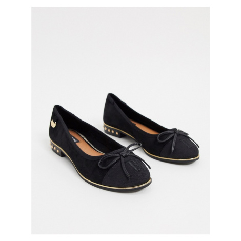 River Island bow front pump shoes in black