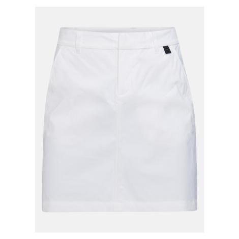 Sukně Peak Performance W Illusion Skirt - Bílá