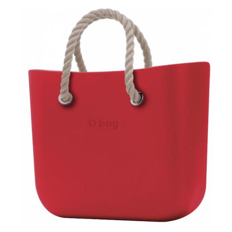 O bag kabelka MINI Ciliegia s krátkymi provazy natural