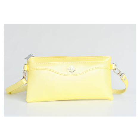 Bright Kabelka/pouzdro/etue 3v1 lesklá s kapsou a přepážkou žlutá, 22 x 2 x 12 (BR17-A8057-06SYN