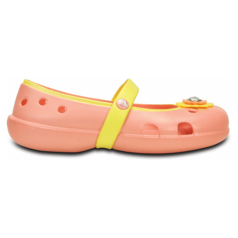 Crocs Keeley Petal Charm Flat Melon/Sunshine C9