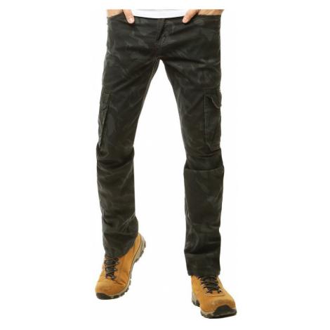 Dstreet Maskáčové kapsáčové kalhoty