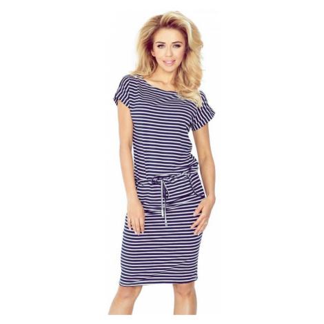 Dámské šaty Numoco 139-1   bílo-modrá
