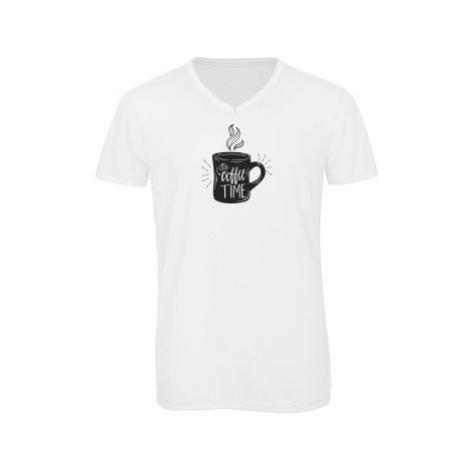 Pánské triko s výstřihem do V Coffee time