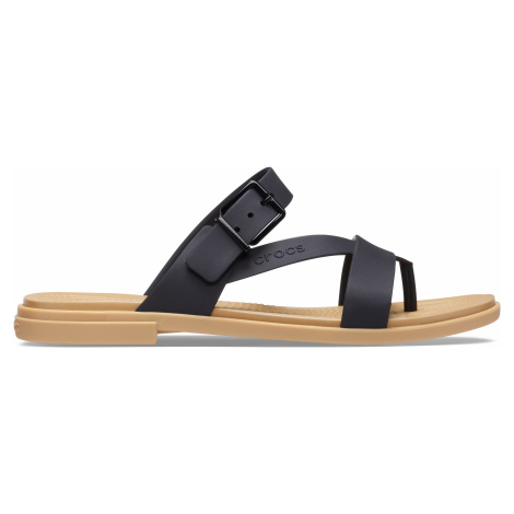 Crocs Crocs Tulum Toe Post Sandal W Black/Tan W9