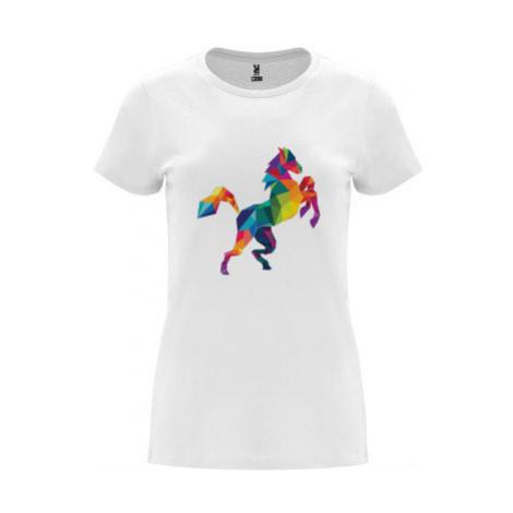 Dámské tričko Premium Kůň z polygonů