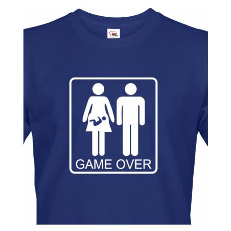 Vtipné tričko pro budoucí tatínky Game over - skvělý dárek BezvaTriko