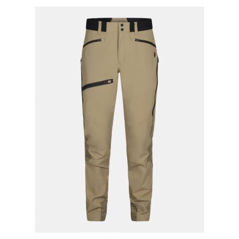 Kalhoty Peak Performance M Light Softshell V Pants - Hnědá