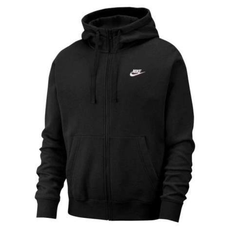 Nike NSW CLUB HOODIE FZ BB černá - Pánská mikina