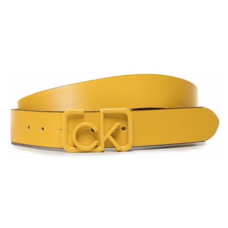 Calvin Klein Calvin Klein dámský žlutý opasek SIGNATURE 3CM BELT