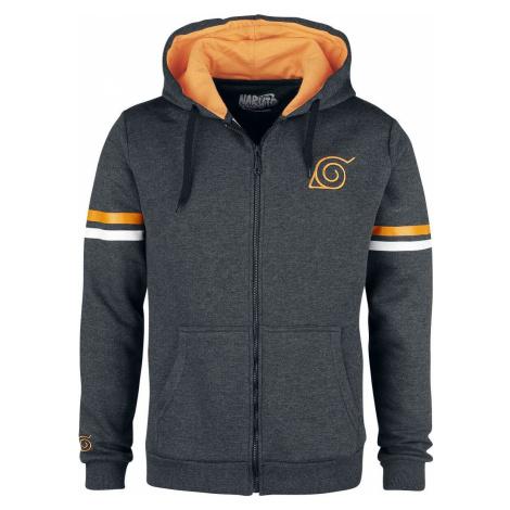 Naruto Konoha Genin Mikina s kapucí na zip antracit mix