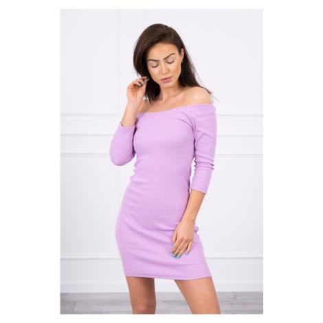 Dress fitted - ribbed purple Kesi