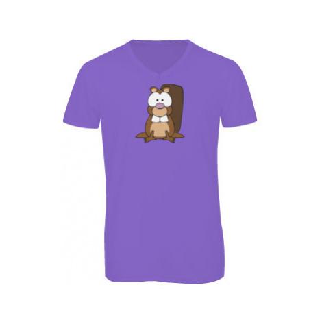 Pánské triko s výstřihem do V Bobr