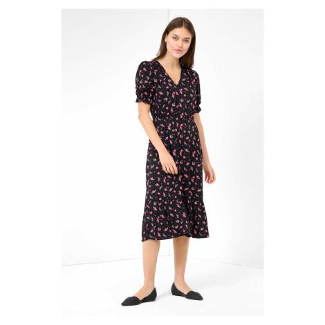 Květované midi šaty Orsay