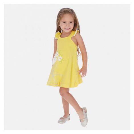 Dívčí šaty Mayoral 3962   žlutá