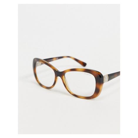 Vogue oversized round blue light glasses 0VO2943SB-Brown
