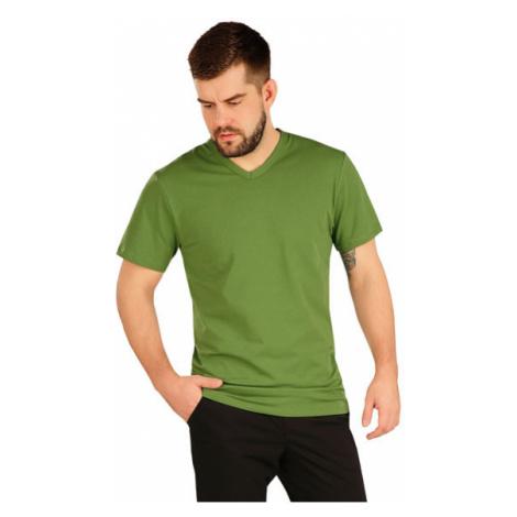 Pánské triko s krátkým rukávem Litex 5A360 | trávově zelená