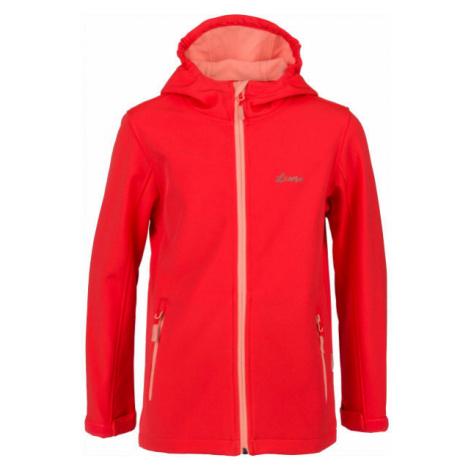 Lewro SIERRA růžová - Dětská softshellová bunda