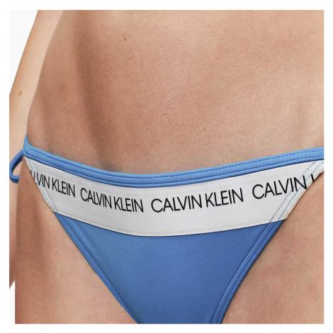 Modrý dolní díl plavek Fix Triangle-RP CK logo Calvin Klein