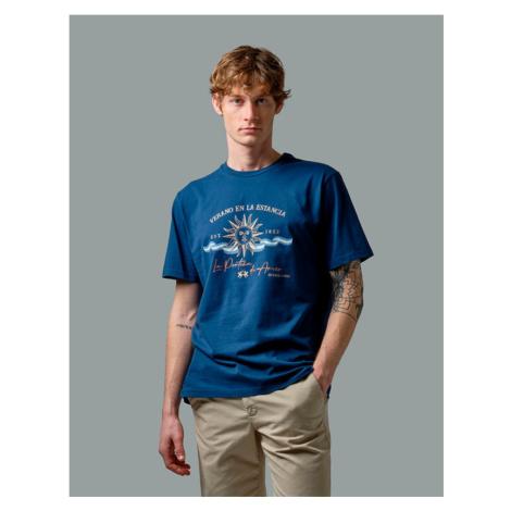 Tričko La Martina Man T-Shirt Short Sleeves Jers - Modrá