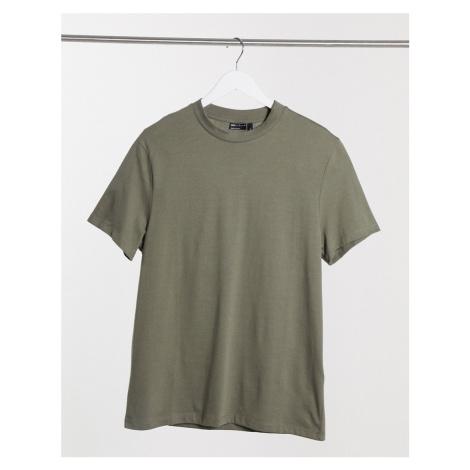 ASOS DESIGN organic t-shirt with crew neck in khaki-Green