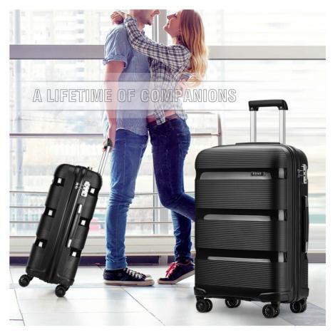 Černý cestovní kvalitní malý kufr Rylee Lulu Bags