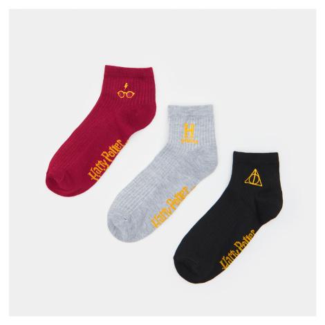 Sinsay - Sada 3 párů ponožek Harry Potter - Vícebarevná