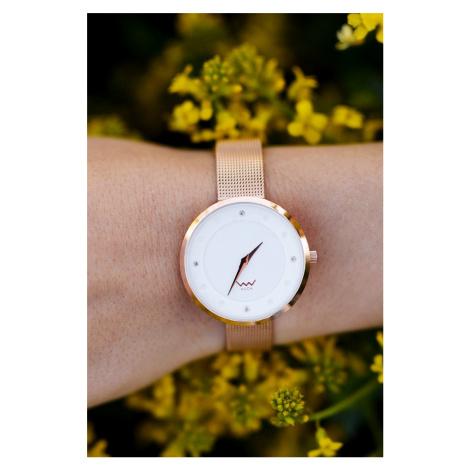 Dámské růžovozlaté hodinky s krystaly Rougue VUCH