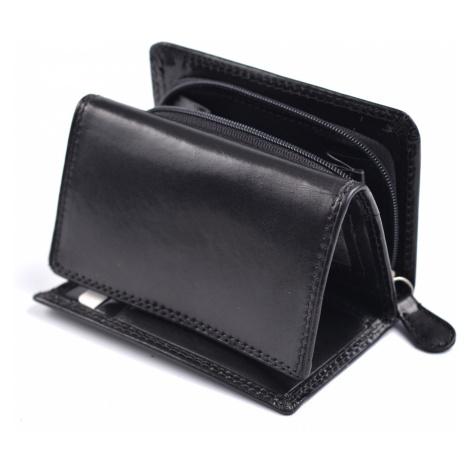 Dámská kožená peněženka na výšku se zipem na mince černá, 9 x 0 x 12 (SB00-V908-09KUZ)