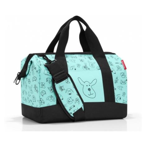 Cestovní taška Reisenthel Allrounder M kids Cats and dogs mint