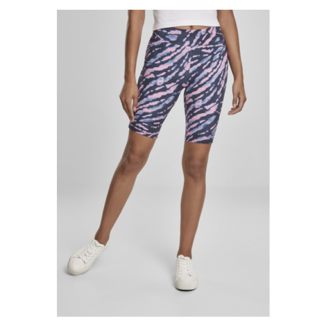 Urban Classics Ladies Tie Dye Cycling Shorts darkshadow/pink