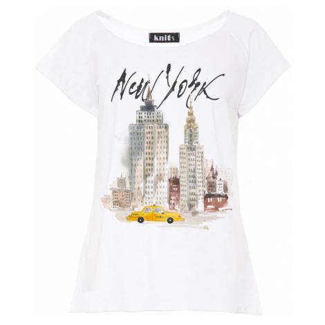 Dámské bílé tričko New York K446