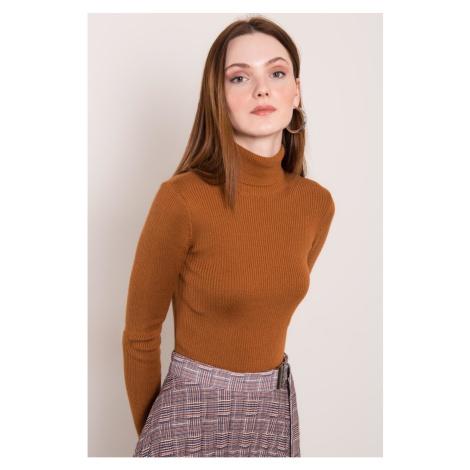 BSL Light brown turtleneck sweater Fashionhunters