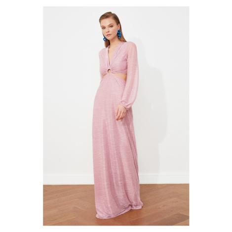 Trendyol Powder Neck Detailed Evening Dress & Graduation Gown