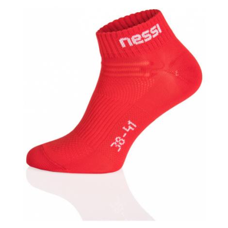 Nessi Kotníkové ponožky STP-12 - Červená