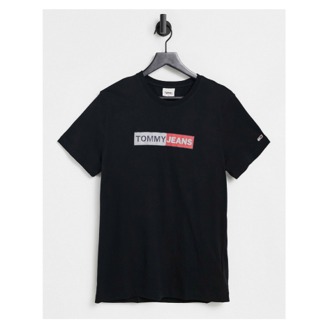 Tommy Jeans metallic logo t-shirt in black Tommy Hilfiger