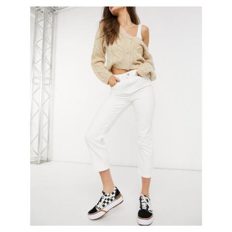 Oasis Edie straight leg jean in off white-Cream