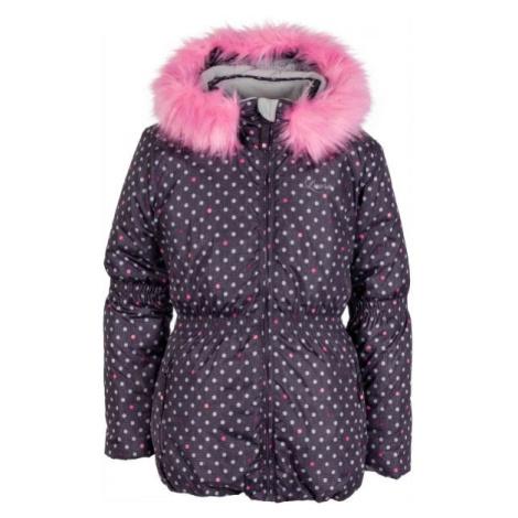 Lewro PAOLA hnědá - Dětská zimní bunda
